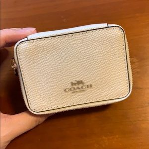 Coach white wallet